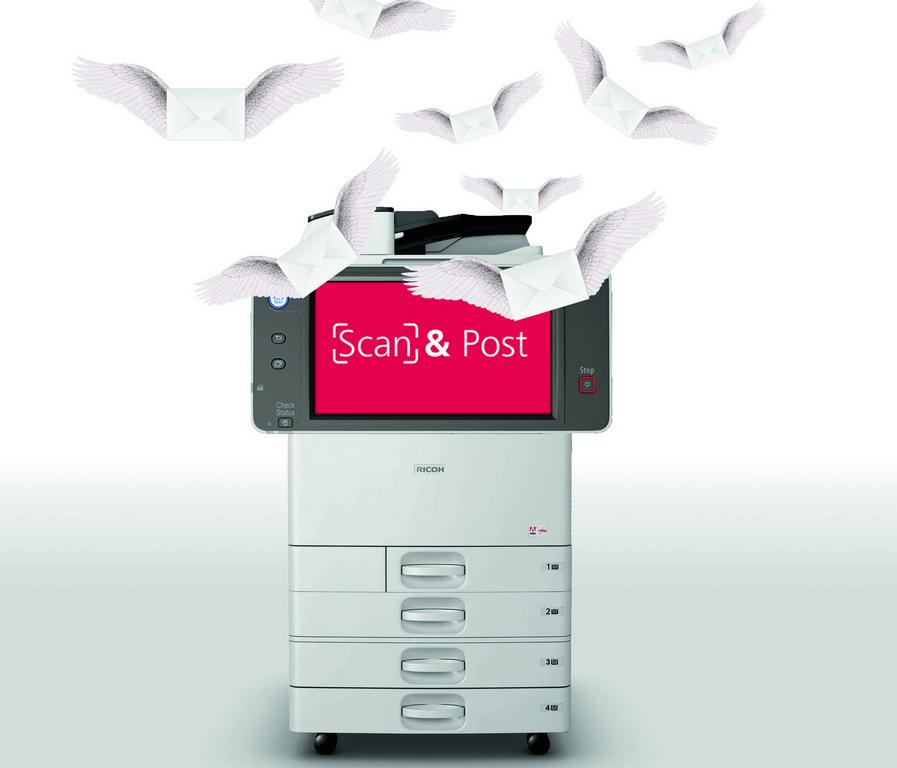 Ricoh Scan & Post… Le multifonction devient bureau de poste !