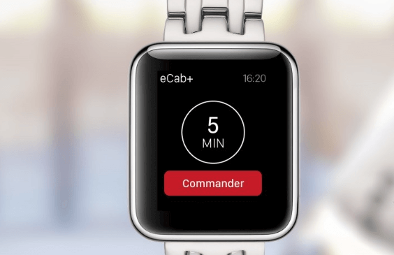 eCab, l'app de Taxis Verts sur Apple Watch