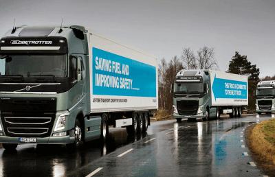 Des camions autonomes roulent au Wi-Fi