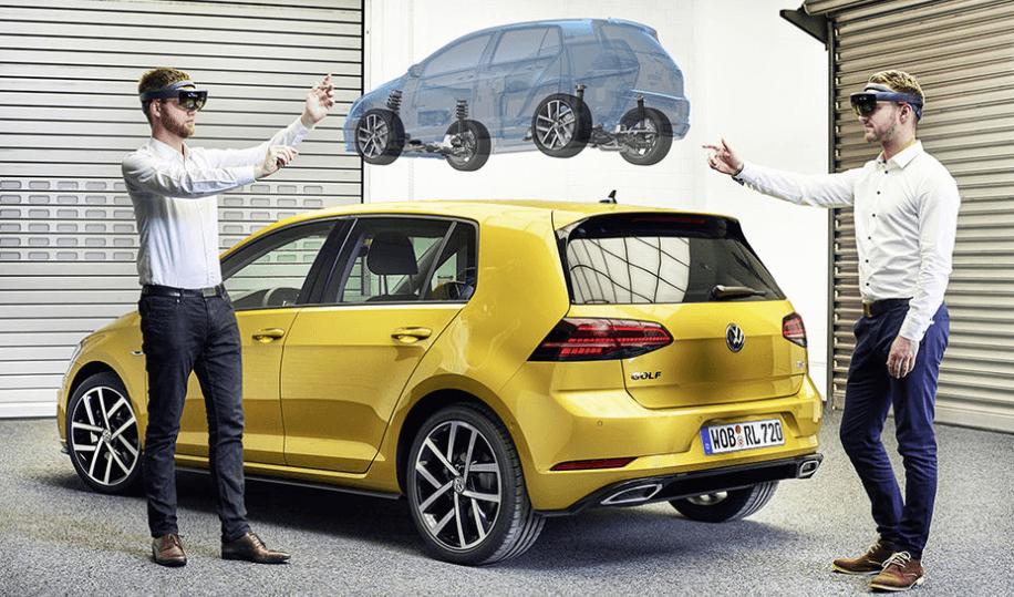 Volkswagen va concevoir ses prochaines Golf avec HoloLens