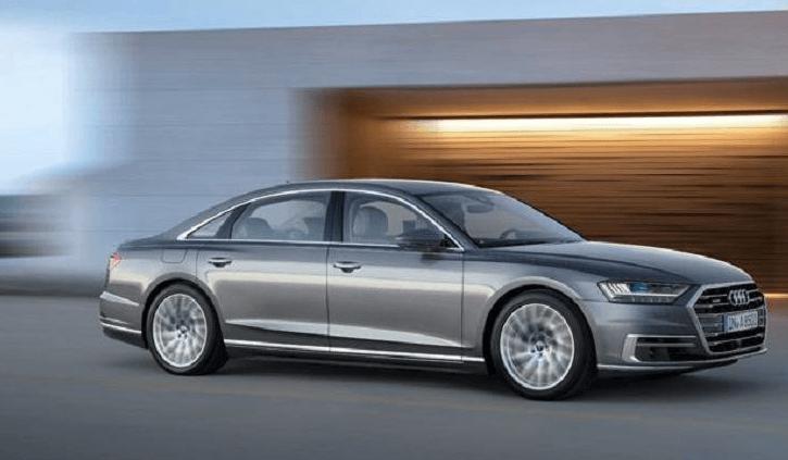Audi A8, quatrième génération de la berline de luxe, mais premier véhicule autonome de niveau 3 de série.