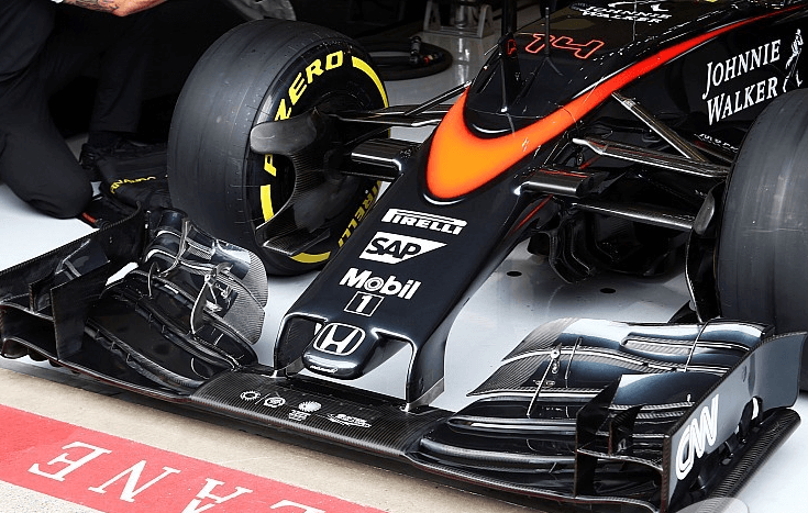 Une McLaren au coeur du palais 10 de Brussels Expo qui accueillait le SAP Forum 2017.
