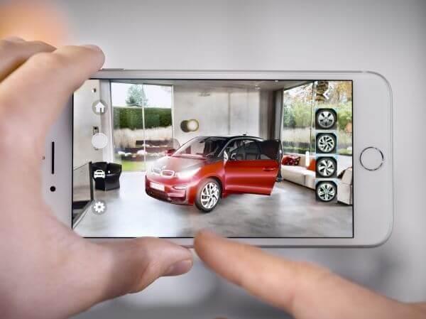 BMW i Visualiser configure en réalité augmentée votre voiture avec un iPhone