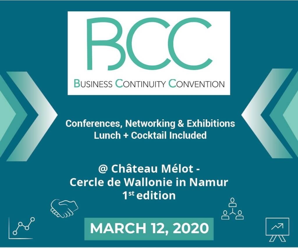 12 Mars 2020   Business Continuity Convention (BCC)